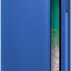 Apple Leather Folio Booktype iPhone X / Xs hoesje - Electric Blue