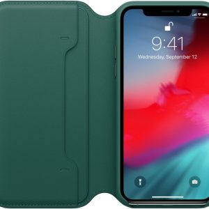 Apple Leather Folio Booktype iPhone X / Xs hoesje - Forest Green