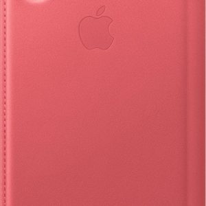 Apple Leather Folio Booktype iPhone X / Xs hoesje - Peony Pink