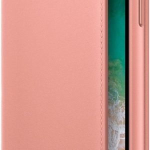 Apple Leather Folio Booktype iPhone X / Xs hoesje - Pink