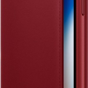 Apple Leather Folio Booktype iPhone X / Xs hoesje - Red