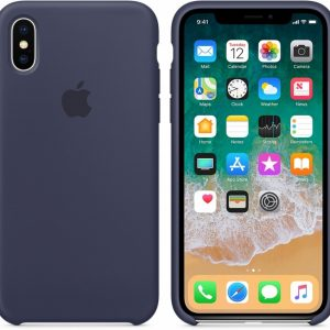 Apple Siliconen Back Cover voor iPhone X - Blauw