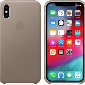 Apple Lederen Back Cover voor iPhone X / Xs - Taupe