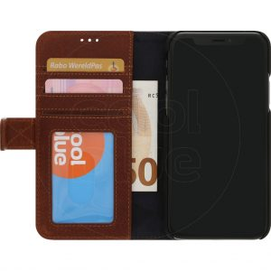 Decoded Leather 2-in-1 Wallet iPhone X/Xs Book Case Bruin