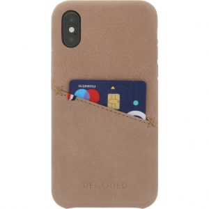 Decoded Leather Apple iPhone X Back Cover Beige