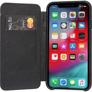 Decoded Leather Slim Wallet Apple iPhone X/Xs Book Case Zwart