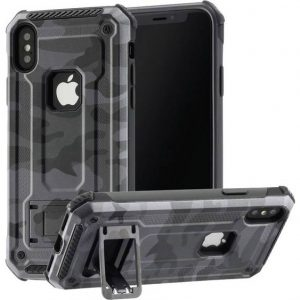Hama CO ARMY Backcover Apple iPhone X, iPhone XS Grijs, Zwart