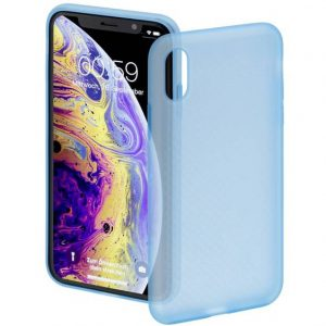 Hama Soft Touch Backcover Apple iPhone X, iPhone XS Blauw