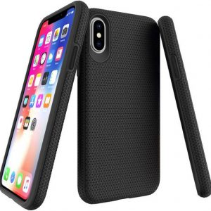 JT Berlin Pankow Solid Backcover Apple iPhone X, iPhone XS Zwart