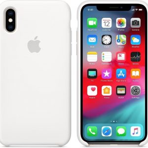 Apple Silicone Backcover iPhone Xs / X - White