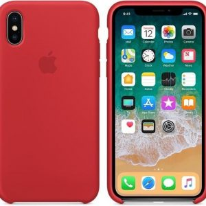 Apple Siliconen Back Cover voor iPhone X - Rood