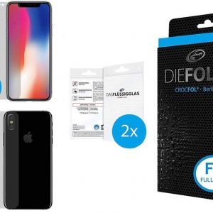 Crocfol Die Folie Fullbody Screenprotector (folie) Geschikt voor: Apple iPhone X 1 set(s)